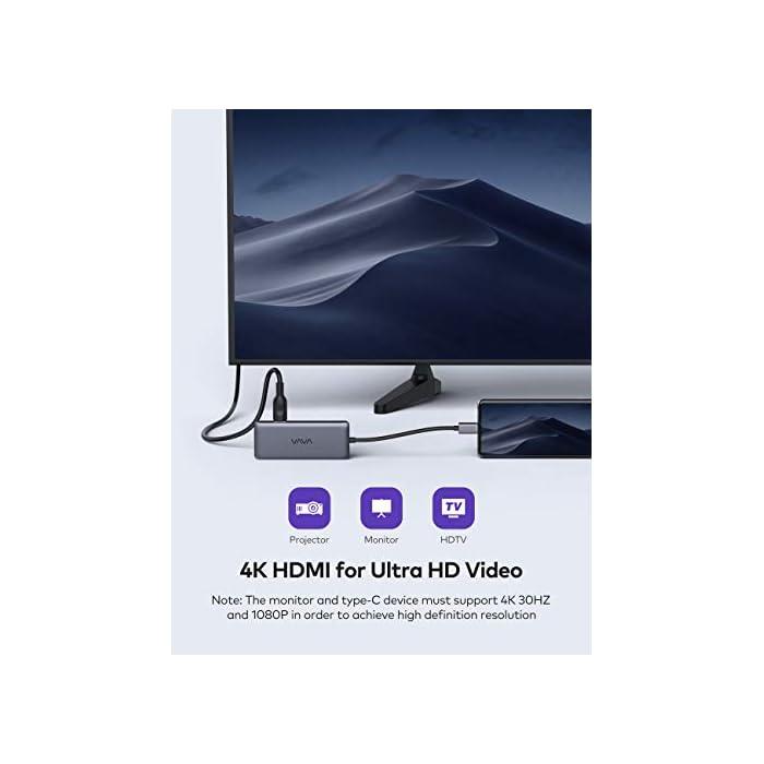 41WReu93IuL Haz clic aquí para comprobar si este producto es compatible con tu modelo 【Expansión de Capacidad 8 en 1 con circuito de 6 capas】: El Concentrador USB-C de VAVA cuenta con 2 x puertos USB 3.0, 1 x puerto USB 2.0, puerto de video HDMI 4K, puerto Ethernet Gigabit RJ45, ranuras de lector tarjetas SD/TF y un puerto de suministro de energía de 100W, el concentrador Hub cumple con todas las necesidades y laptops Tipo-C. ► Utilice chips de circuito de 6 capas en lugar de 4 capas para reducir el calor y hacer que la transmisión sea más estable 【Transferencia de Datos Rápida】: El puerto USB 2.0 es especialmente diseñado para la conexión a ratón y teclado inalámbricos de 2.4G evitando la interferencia de señal. ► 2 x puertos USB 3.0, 1 x ranura de tarjeta SD 3.0 y 1 x lector de tarjeta Micro SD 3.0, con una velocidad de hasta 5 Gbps, puede transferir archivos, videos y otros datos en segundos