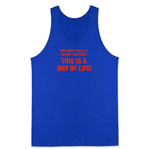 Pop Threads You Think This is a Costume? It's a Way of Life Royal Blue XL Mens Tank Top