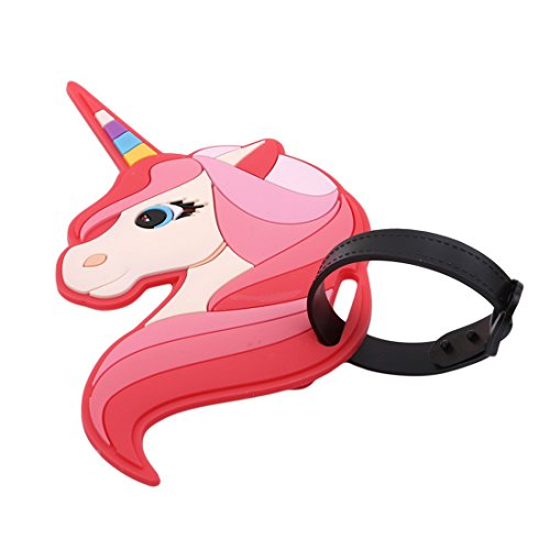 UNKE Cute Pegasus Silicone Luggage Tag Name Address ID Suitcase Labels Holder Travel Accessories