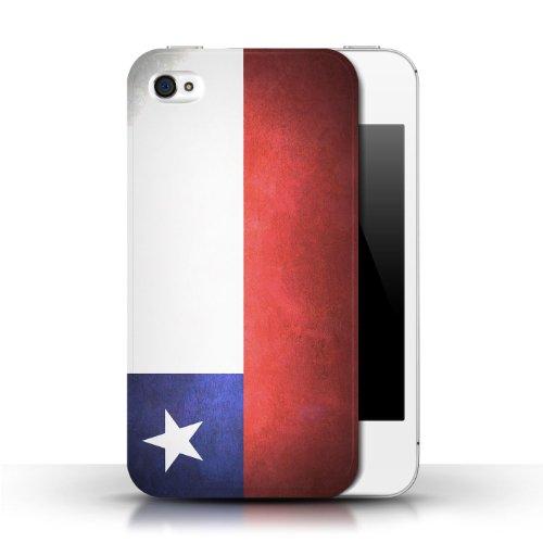 Etui / Coque pour Apple iPhone 4/4S / Chili/Chiliean conception / Collection de Drapeau