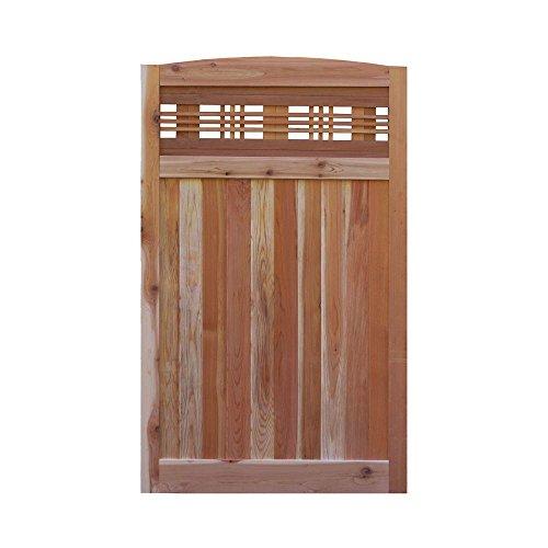 - Signature Development 3.5 ft. H W x 6 ft. H H Western Red Cedar Arch Top Horizontal Lattice Fence Gate