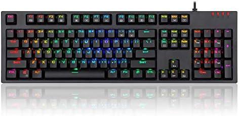 RGB有線ゲーミングマシン人間工学コンピュータタブレットノートパソコンのキーボード合金RGBバックライト最新のキーボードは、キーボード18を介して同じ照明モードを提供するように制御することができます,黒