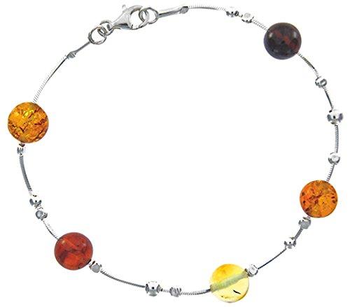 Nature d'Ambre - Bracelet - Argent 925 - Ambre - 19 cm - 31812243RH