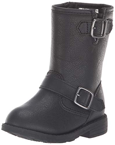 carter's Girls' Aqion3 Riding Fashion Boot, Black, 8 M US Toddler (Leather Girl Boots)