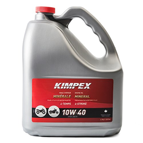 Kimpex FV0003226 OIL ENGINE MOTO/ATV 10W40 3.78L MNRAL for sale  Delivered anywhere in Canada