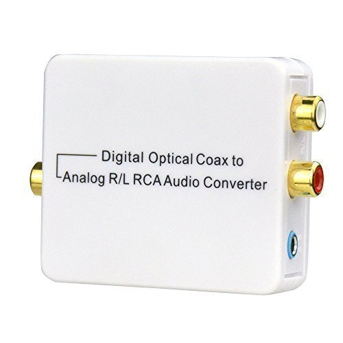 Dac Converter (Digital to Analog Converter Audio Digital Analog Adapter High Speed 24bit 192khz DAC Gold-Plated HD RCA L/R Output Digital Singal Optical Coax Input Adapter with USB Power)