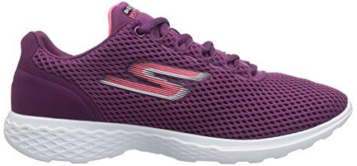 Skechers Go Train-Hype, Zapatillas para Mujer Morado (Purple)