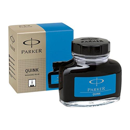 Parker S0037480 Tintenfass mit flüssiger Quink-Tinte (auswaschbar, 57 ml) blau