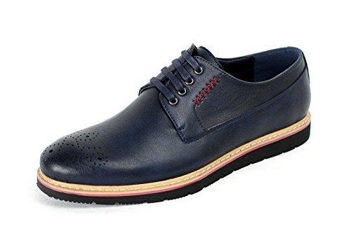 Herren Brogue Schnürbar Smart Schuhe Formell Büro Arbeit Freizeit Hochzeitskleid UK Größe Marine