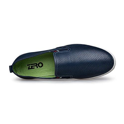 Zro Menns Moderne Slip-on Dagdriver Mote Uformell Walking Sko Ho Blå