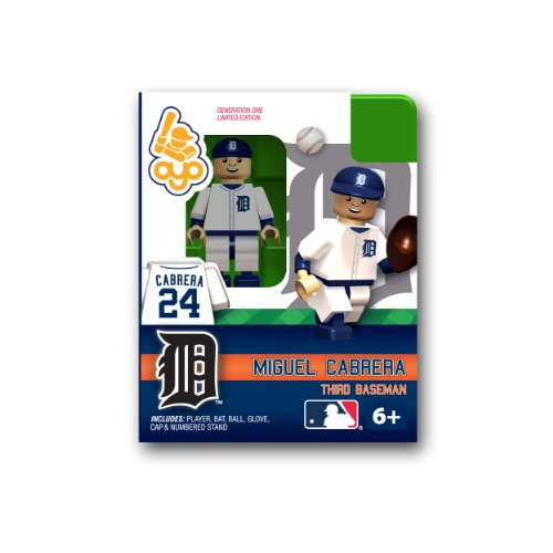 MLB Building-Toy Figure MLB Player: Detroit Tigers - Miguel Cabrera