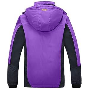 Wantdo Women's Waterproof Mountain Jacket Fleece Windproof Ski Jacket Purple US M Purple Medium