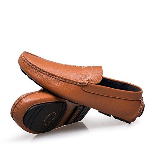 Minitoo LHUS-LH5805 - Mocasines de Material Sintético Para Hombre marrón