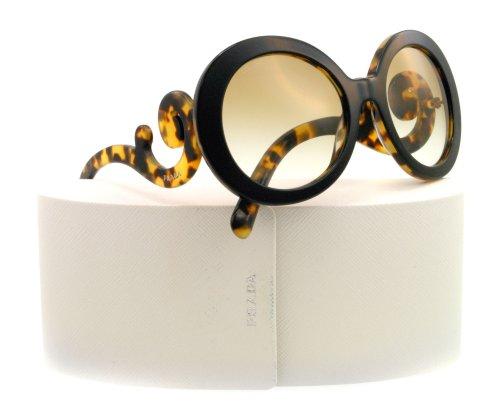 top black/medium havana frame/brown gradient lens prada pr27ns 太阳镜太阳眼镜