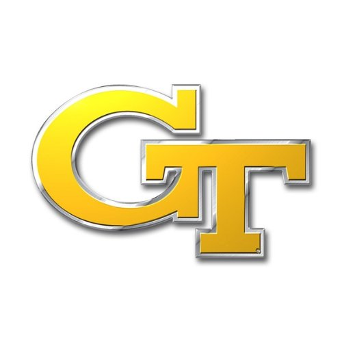 - Team ProMark NCAA Georgia Tech Yellow Jackets Die Cut Color Auto Emblem