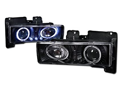 BLK DRL Luces de LED proyector de Halo Head Lamp K2 Chevy/GMC C10 ...