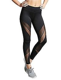 Women Fashion Running Sport Pants Sexy Tight Mesh Leggings Stretch Trousers