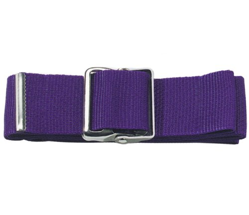 Prestige Medical Nylon Gait Transfer Belt with Metal Buckle, Purple, 4.3 Ounce
