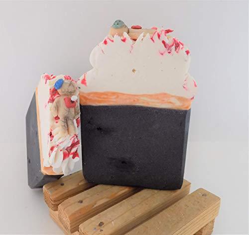 Homemade Soap/Voodoo Doll/Black Cherry Bomb/Cold Process Bar Soap/Artisan Soaps/Natural Soap Bars/Made in Alaska