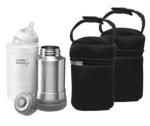 Tommee Tippee Closer to Nature Travel Bottle & Food Warmer with Insulated Bottle Bags by Tommee Tippee