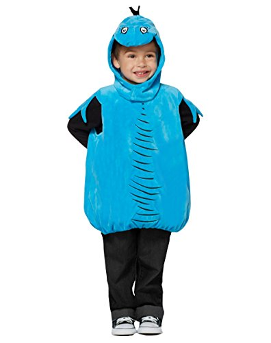 Toddler Girl Fish Costume (Spirit Halloween Toddler Blue Fish Costume - Dr. Seuss)