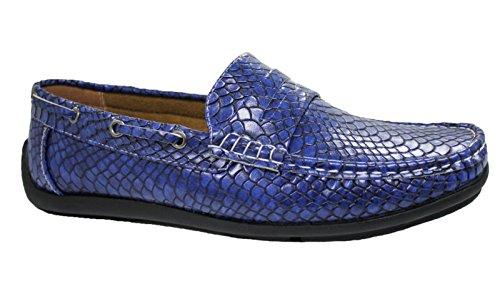Niadi Collezioni - Mocasines para hombre azul turquesa 40
