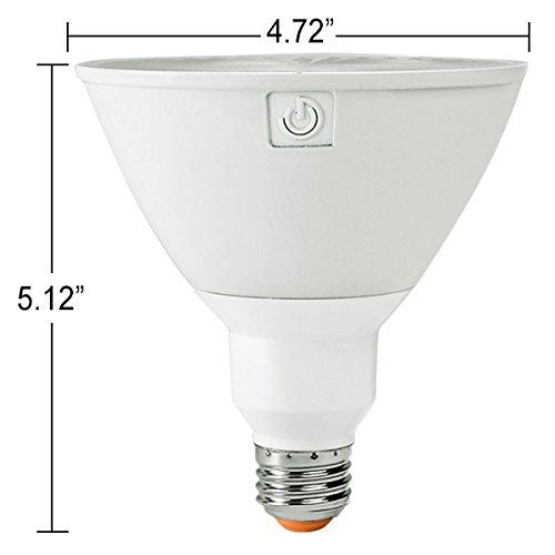 Green Creative 58166 PAR38 Flood LED Lightbulb, 4000K (Daylight White), CRI 90, 17W, 1450 lm, Energy Star, 40°