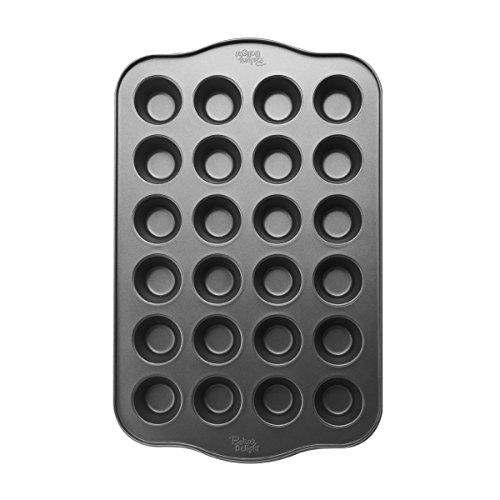 Baker's Advantage 5111815 Nonstick Mini Muffin Pan, 24-Cup,Gray