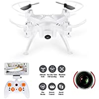 WiFi FPV Quadcopter Drone with 0.3MP HD Camera,WiFi Quadcopter with Altitude Hold,Gravity Sensor Mode Function,Controlled by RC or Phone/Pad