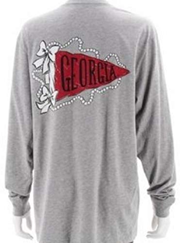 (Lauren James GA Pennant Flag Women's L/S (XL) Grey)