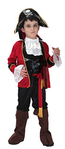 Kids Pirate Captain Role Play Boys Skull Sailor Halloween Cosplay Costumes (Large, NO.0078)
