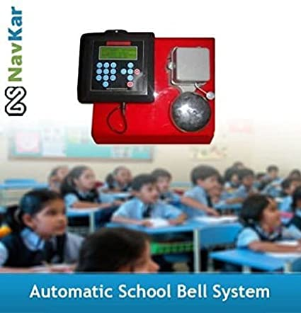 NAVKAR Automatic School Bell Timer System with 9 inches Gong Bell.
