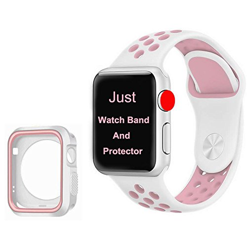 EPOCHMA for Apple Watch Band 42mm with Screen Protector White/Pink by EPOCHMA