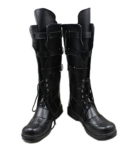 Hot Movie Character Hawkeye Boots Black PU Boots for Sale C -