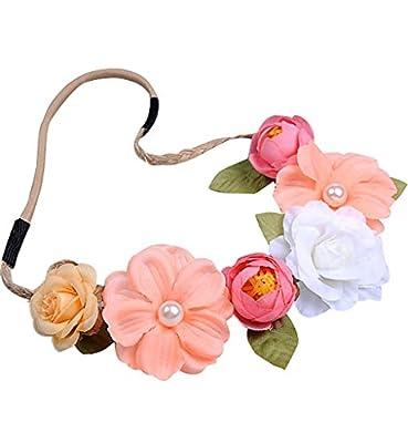 Sumolux White Gardenia Flower Crown for Wedding Festivals