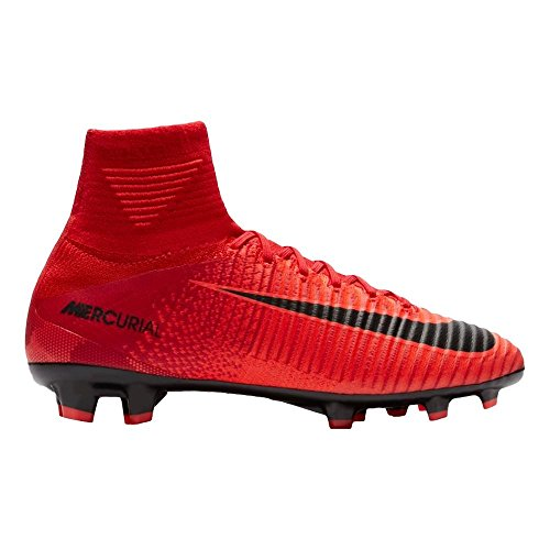 size 40 59e32 5e3fb Nike Youth Mercurial Superfly V DF FG Cleats  University RED  (4Y)