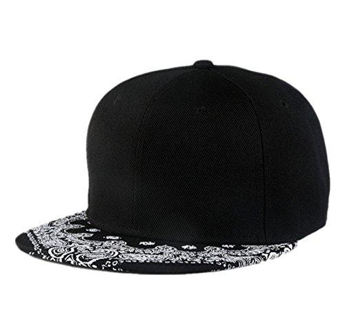 c49622aa12e Forwardor Connectyle Paisley Flat Bill Hats Graffiti Print Adjustable  Snapback Hiphop Cap