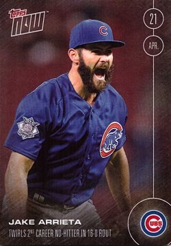 2016 Topps Now Arrieta Baseball product image