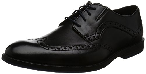 Stringate Prangley Scarpe Clarks Basse Leather Limit black Nero Brogue Uomo dtqAOA
