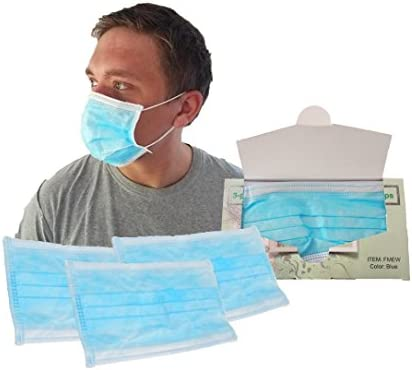 disposable mouth face mask 3-ply latex free with nose