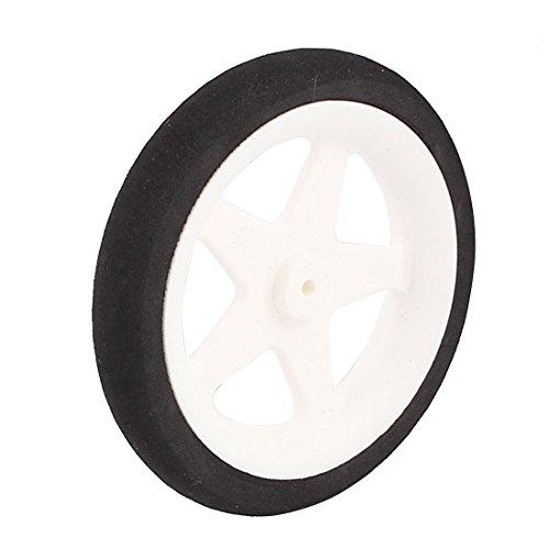 (uxcell 1.8mm Shaft Hole RC Plane Tail Tire Lightweight Sponge Wheel Metric Size D55 H10)