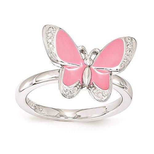 Enamel Butterfly Ring - 2
