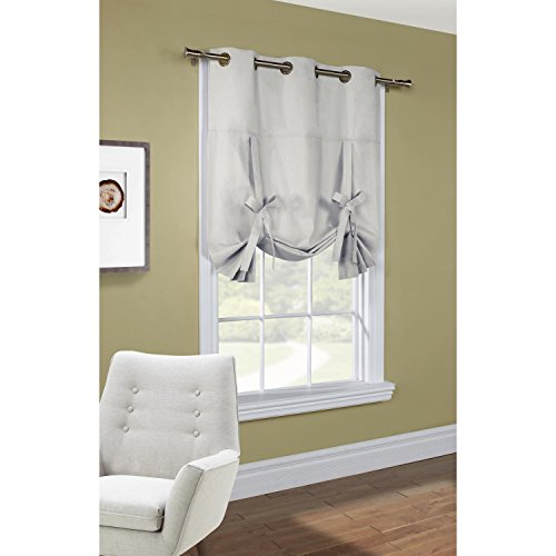Thermal Weathermate Top Grommet - Thermalogic Commonwealth Weathermate Cotton Duck Insulated Grommet Top Tie Up Curtain Tie Up Panel 40 x 63 Silver