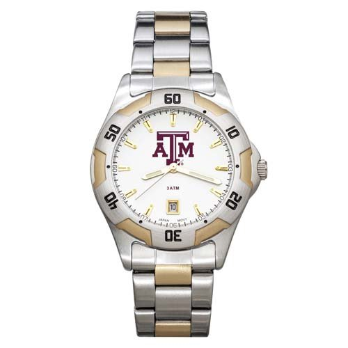 Aggies Mens Watch (NCAA Texas A&M Aggies Men's All-Pro Two-Tone Watch)
