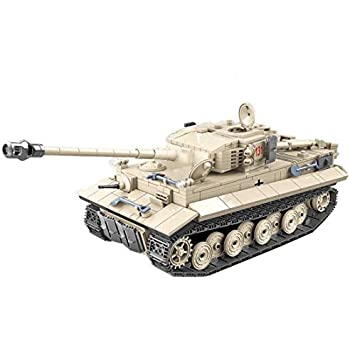 Lingxuinfo Tiger Tank Building Kit, 1018 Pieces Military Army Tanks Building Block Set Military Tank Vehicle for Kids and Adults Compatible with All Major Brands