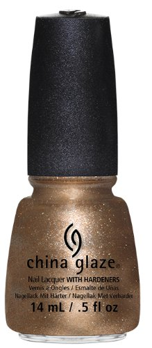 China Glaze Nail Lacquer, Goldie but Goodie, 0.5 Fluid Ounce