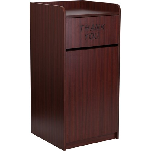 Flash Furniture Wood Tray Top Receptacle in Mahogany by Flash Furniture