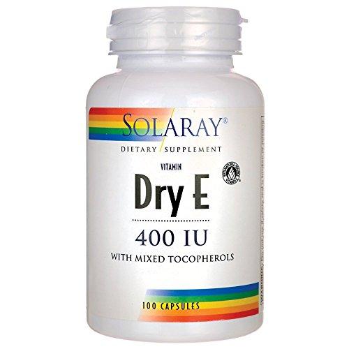 Solaray Dry E 400 LU Capsules, 100 Count
