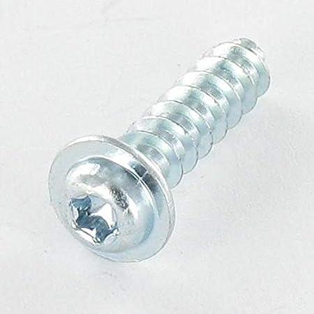 VIS PVC TETE CYLINDRIQUE TC 4X12 TORX T20 ACIER ZING BLANC