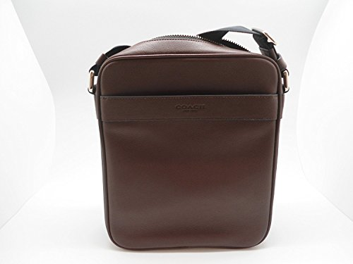 Coach Men's Flight Bag Smith Leather Crossbody Bag F54782 Mahogany (Bag Men For Flight Coach)